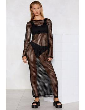 Net My Drift Fishnet Dress by Nasty Gal