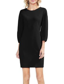 Bubble Sleeve Stretch Crepe Ponte Dress by Vince Camuto