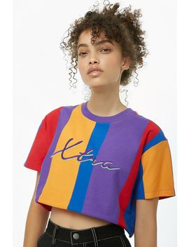 Xtra Graphic Colorblock Crop Top by Forever 21