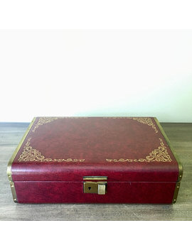 Vintage Fashioned By Farrington Merlot Jewelry Box Trinket Case by Old Dominion Reserve