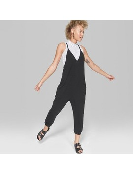Women's V Neck Knit Jumpsuit   Wild Fable™ Black by Shop All Wild Fable™