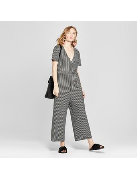Women's Striped Knit Jumpsuit   A New Day™ Black by Shop All A New Day™