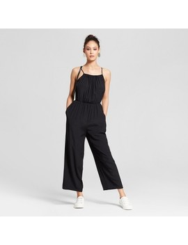Women's Jumpsuit With Shirred Neckline   Mossimo™ Black by Shop All Mossimo