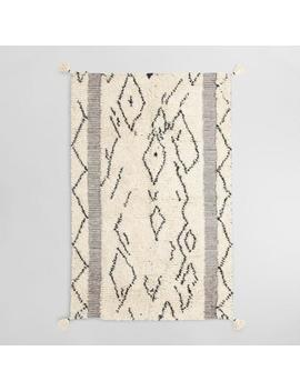 Ivory And Black Moroccan Style Wool Shag Marrakesh Area Rug by World Market