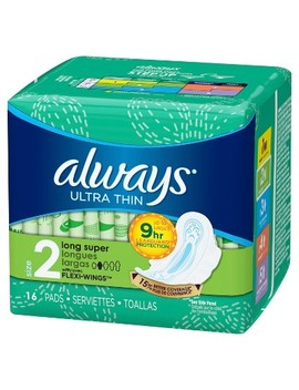 Always Ultra Thin Size 2 Super Pads With Wings   Unscented by Shop All Always