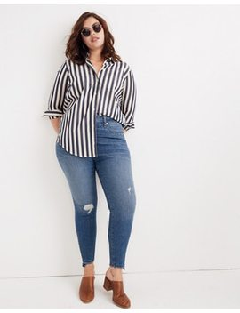 Curvy High Rise Skinny Jeans: Drop Step Hem Edition by Madewell