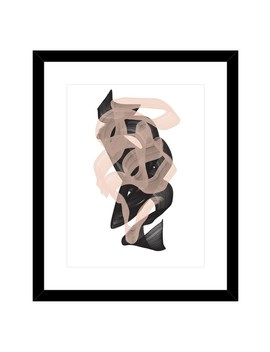 """Beige Ribbon Framed Giclee Print   18""""X22"""" by Ptm Images"""