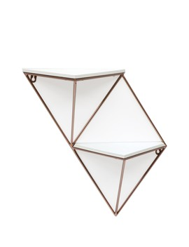 Grey/Rose Gold Double Triangle Shelf by Concepts In Time