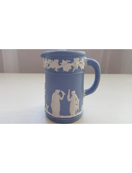 Wedgwood Blue Jasperware Tiny Jug. Wedgwood Jasperware. 1970 Wedgwood Super Cute Tiny Jug.1970 Blue Wedgewood Jasper Ware Tiny Jug. by Greysgiftsandgarbage