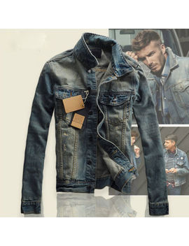New Men's Slim Fit Classic Retro Thicken Coat Jean Denim Jacket Lapel Outerwear by Ebay Seller