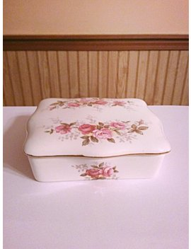 Vintage Jewelry Box, Fine Bone China Royal Sutherland Trinket Box Made In Staffordshire England by Everyvintageera