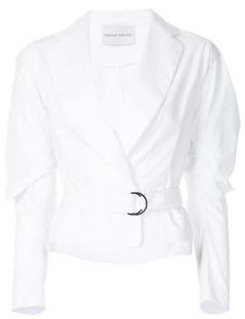 Cropped Belted Shirt by Strateas Carlucci