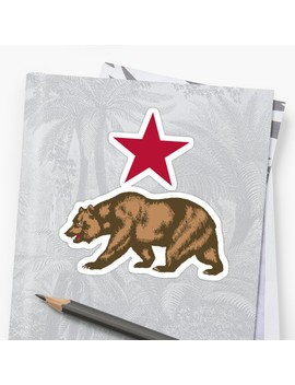 California Republic Bear And Star by Pdgraphics
