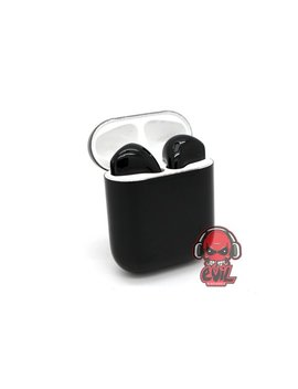 Custom Professional Gloss/Matte Jet Black Painted Apple Air Pods By Evil Headphones by Evil Headphones