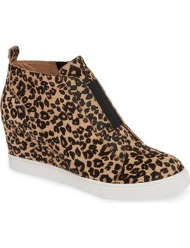 Felicia Iii Genuine Calf Hair Wedge Sneaker by Linea Paolo