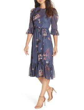 Floral Chiffon Midi Dress by Avec Les Filles