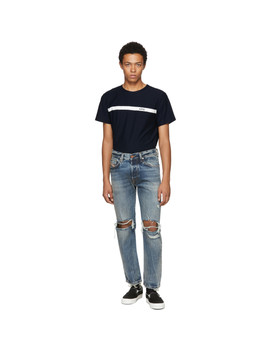 Blue Mharky L.32 Knee Rips Jeans by Diesel