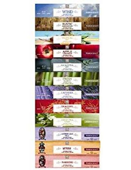 Aromatherapy Hosley's 480 Pack Incense Lavender, Eucalyptus Mint, Sandalwood, Sweet Pea Jasmine, Tropical Mist, Apple Cinnamon, Fresh Bamboo, Dragon's Blood, Myrrh, Lavender, Lilac, Frank Incense O3 by Hosley