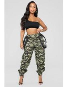 Just A Little Sus Pants   Olive by Fashion Nova