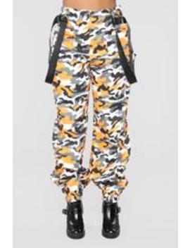 Just A Little Sus Pants   Orange by Fashion Nova