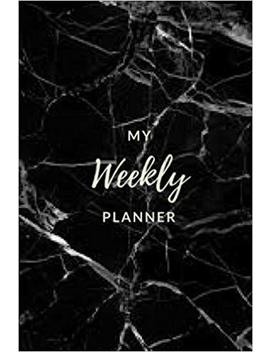 My Weekly Planner   (Black Marble) Daily Planner / Appointment Book: (6x9) To Do Notebook, Weekly To Do Lists, Weekly And Daily Planner, Durable Matte Cover by Amazon