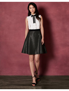 Ruffle And Bow Skater Dress by Ted Baker