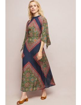 Oralie Silk Maxi Dress by Tanvi Kedia