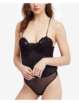Sweetie Pie Lace Blouson Bodysuit by Free People