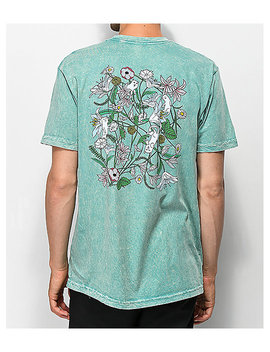 Ripndip Nermal Flowers Sage Vintage Wash T Shirt by Ripndip