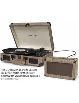 Crosley Cr3028 A Tn Charlotte Vintage Full Range Portable Bluetooth Speaker, Tourmaline by Crosley