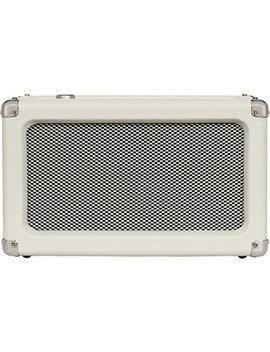 Crosley Cr3028 A Ws Charlotte Vintage Full Range Portable Bluetooth Speaker, White Sand by Crosley