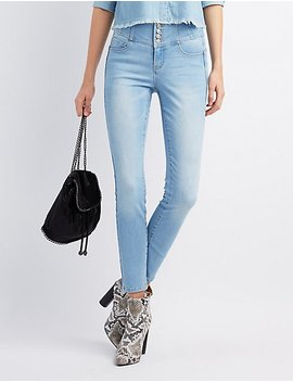 High Rise Push Up Skinny Jeans by Charlotte Russe