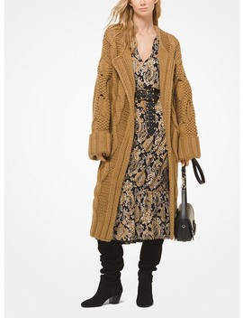 Cable Knit Oversized Cardigan by Michael Michael Kors