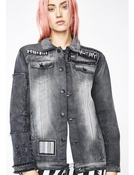 Mutiny Studded Denim Jacket by Current Mood