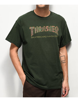 Thrasher Davis Forest Green T Shirt by Thrasher