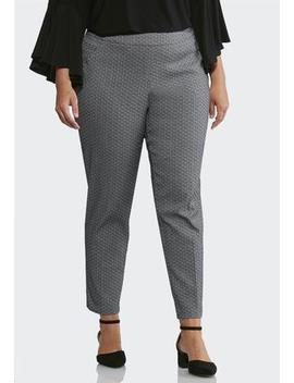 Plus Size Jacquard Pull On Pants by Cato