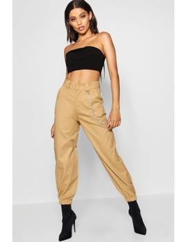 Chain Trim Cargo Trousers by Boohoo