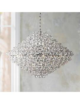"Essa 31 1/2"" Wide Crystal Pendant Chandelier by Lamps Plus"