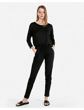 Elastic Waist Pocket Stretch Jumpsuit by Express