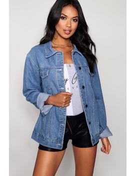 Oversize Denim Jacket by Boohoo
