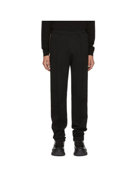Black 'forever Fendi' Tape Lounge Pants by Fendi