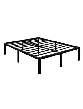 Tatago 3000lbs Max Weight Capacity 16 Inch Tall Heavy Duty Metal Platform Bed Frame Mattress Foundation, Extra Strong Support &Non Slip, No Noise & No Box Spring Need For Saving Money, Queen by Tatago