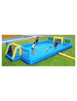 Sportspower Inflatable Soccer Field   Blue/Yellow by Shop All Sportspower