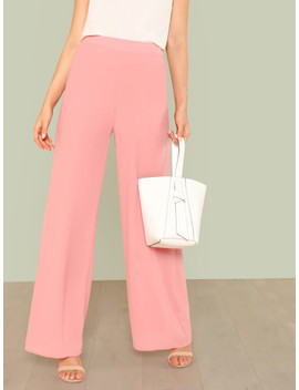 Solid Wide Leg Pants by Shein