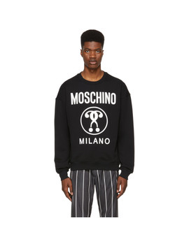 Black 'milano' Logo Sweatshirt by Moschino