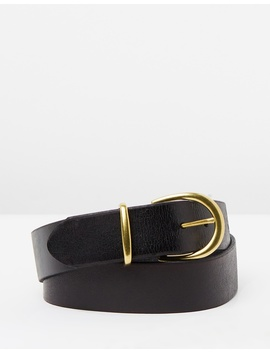 Leather Jean Buckle Belt by Topshop