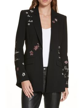Estelle Embroidered Jacket by Cinq À Sept