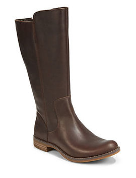 Round Toe Leather Tall Boots by Timberland