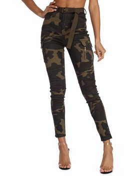 Take Charge Camo Skinny Pants by Windsor