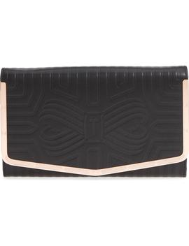 Jenaa Embossed Bow Leather Clutch by Ted Baker London